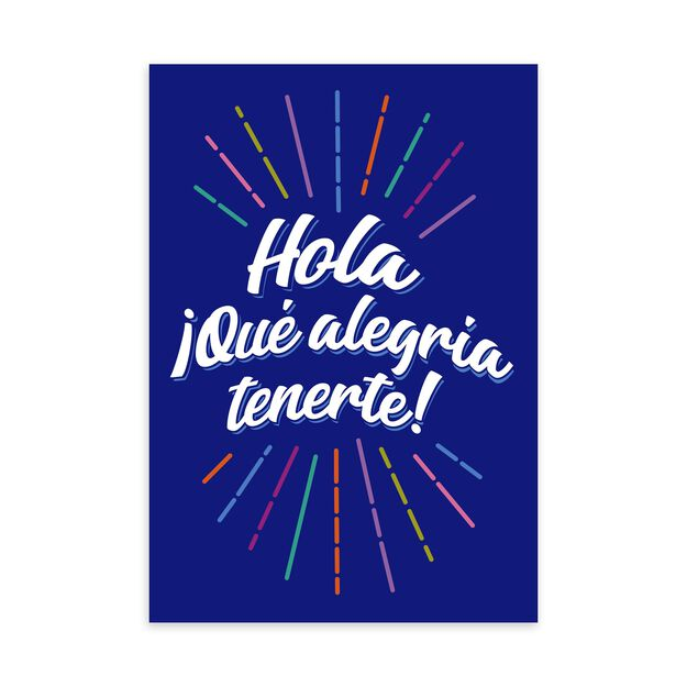 Colorful Hello & Welcome Spanish Welcome Card
