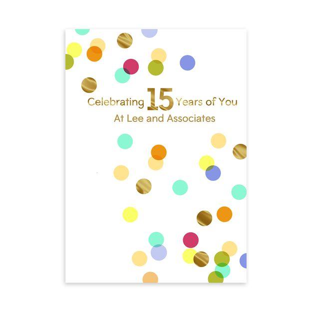 15 Year Celebration Customizable Anniversary Card