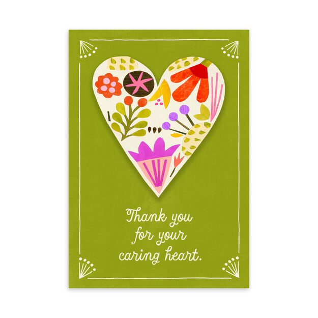 Your Caring Heart Appreciation Card