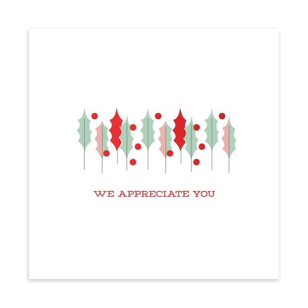 Holly & Berries Holiday Appreciation Card