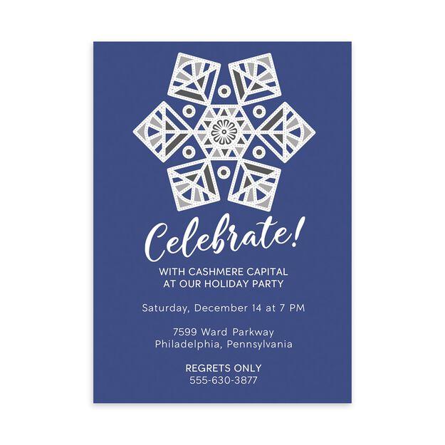 Snowflake Celebration Customizable Winter Invitation