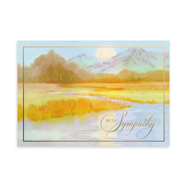 Golden Mountains & River Sympathy Card