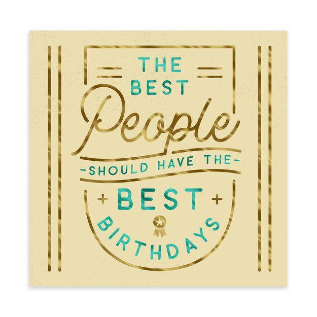 Best People, Best Birthday Card