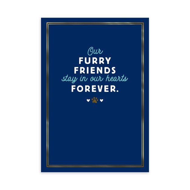 Furry Friends Loss of Pet Sympathy Card