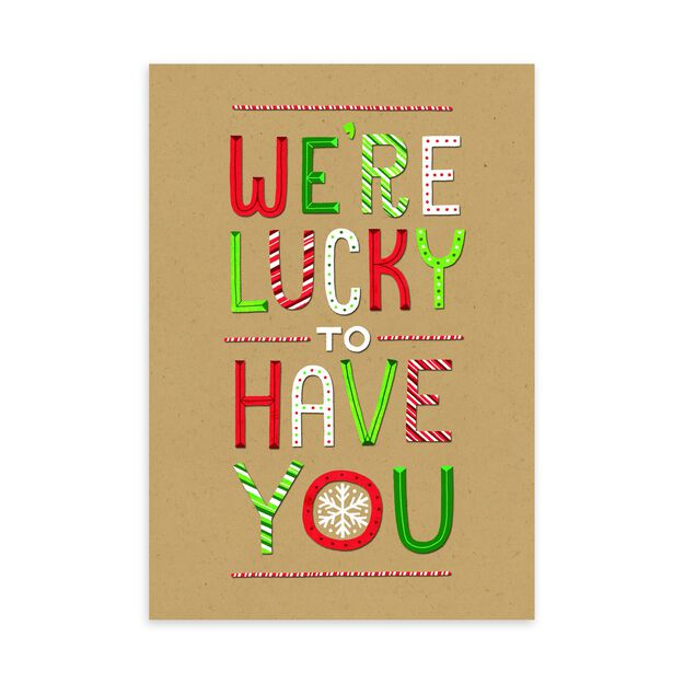 Lucky to Have You Holiday Appreciation Card