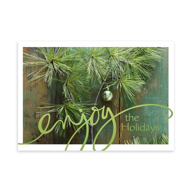 Pine & Wood Decor Holiday Card