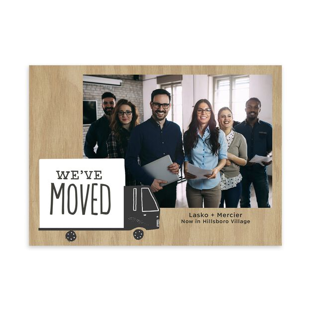 Moving Truck New Location Announcement Photo Card