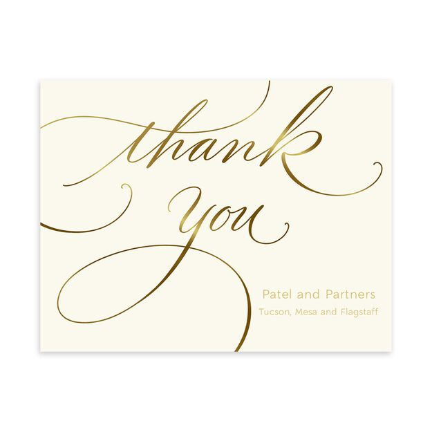 Sophisticated Shine Customizable Thank You Notecard