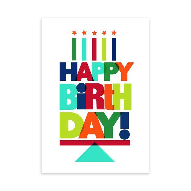 Happy Birthday Letter Cake Birthday Card