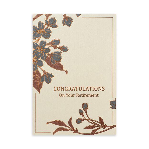 Copper, Cream & Slate Retirement Card