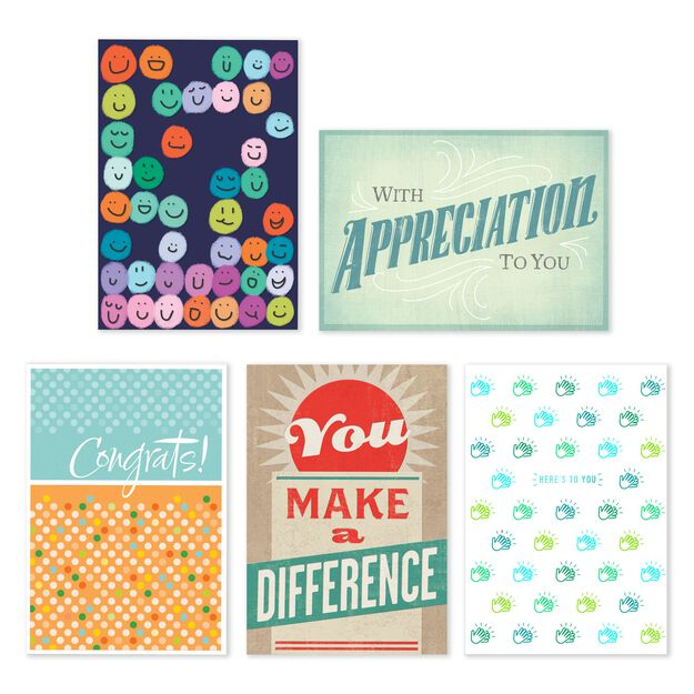 Assorted Employee Recognition Cards 25 Pack