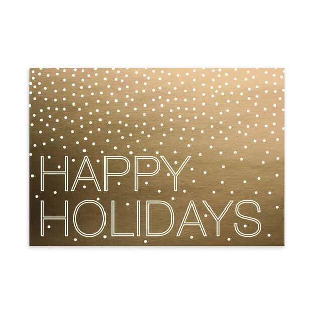 Gold with Dots Happy Holidays Card