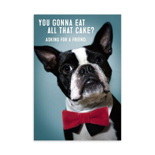 Debonair Dog Birthday Card