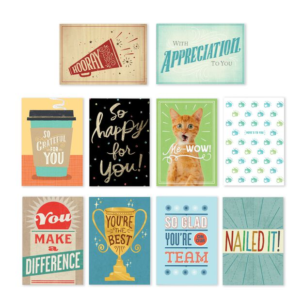 Star Qualities Assorted Employee Appreciation Cards 150 Pack