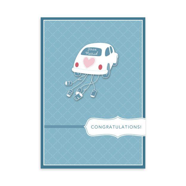 Just Married Car Wedding Card
