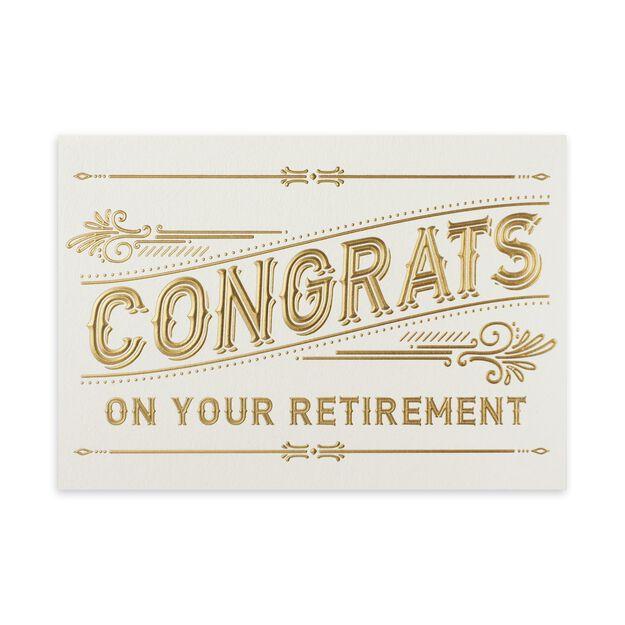 Gold Congrats Retirement Card