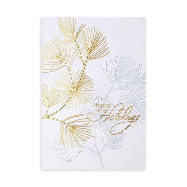 Silver & Gold Pines Premium Holiday Card