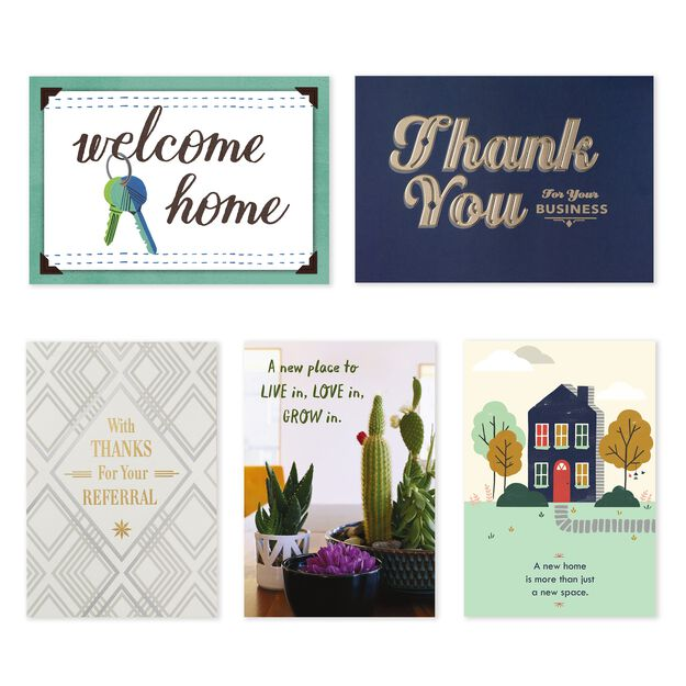 Welcome Home & Thanks Assorted New Home & Referral Cards 25 Pack