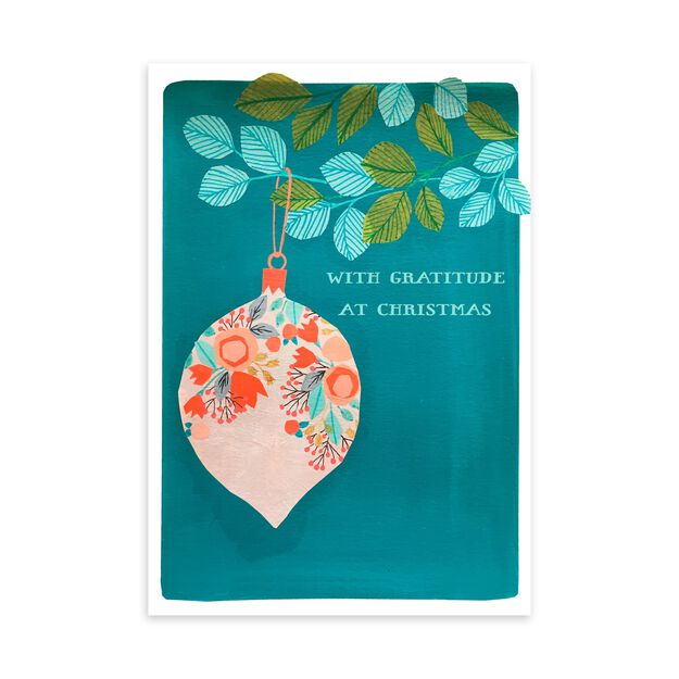 Illustrated Ornament Christmas Card
