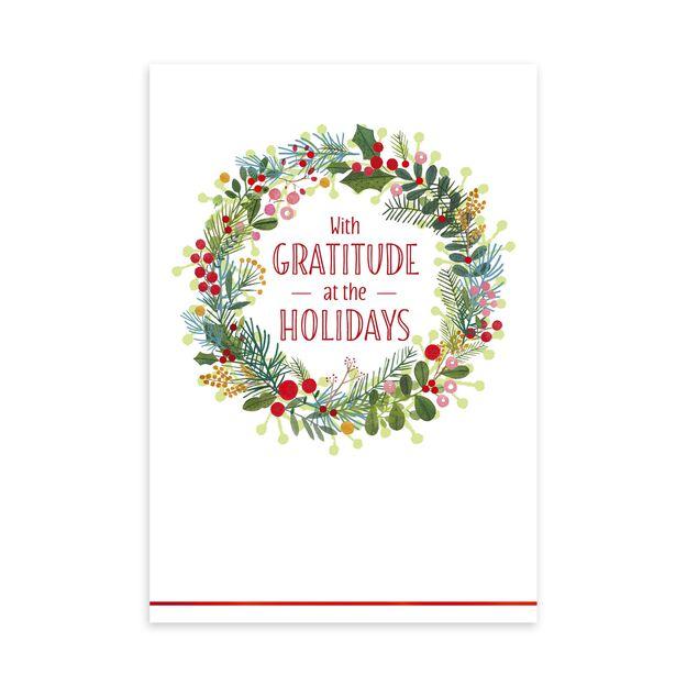 Illustrated Wreath Holiday Appreciation Card