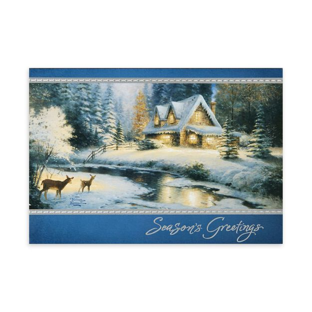 Thomas Kinkade: Deer Creek Cottage Holiday Card