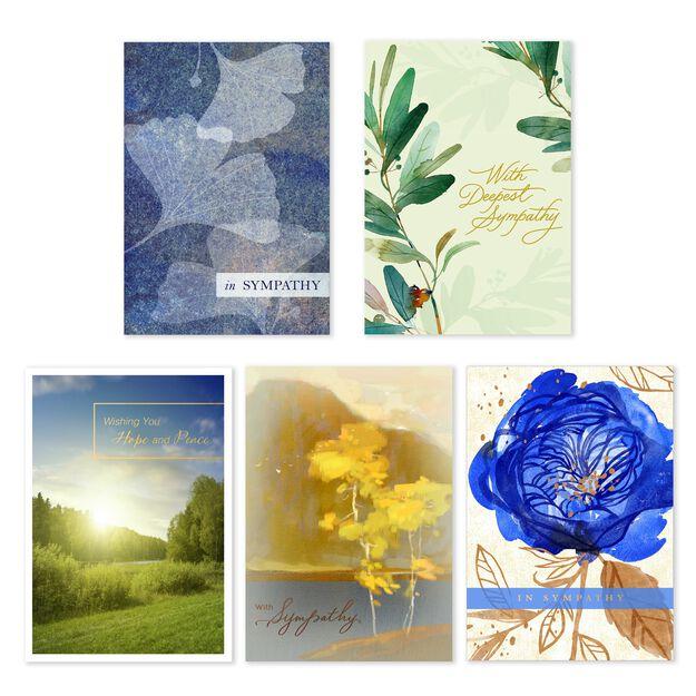 Quiet Condolences Assorted Sympathy Cards 25 Pack