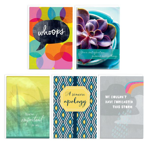 Sincere Sorry Assorted Apology Cards 25 Pack