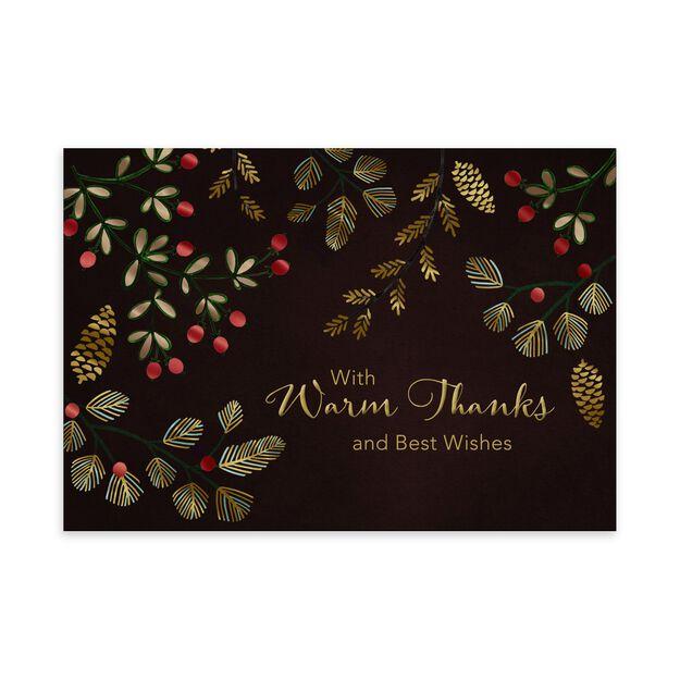 Jeweled Evergreens Premium Holiday Card