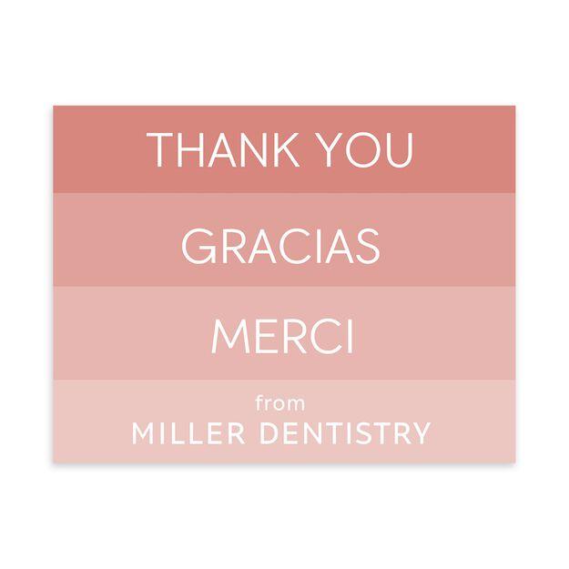 Thank You, Gracias, Merci Customizable Thank You Notecard