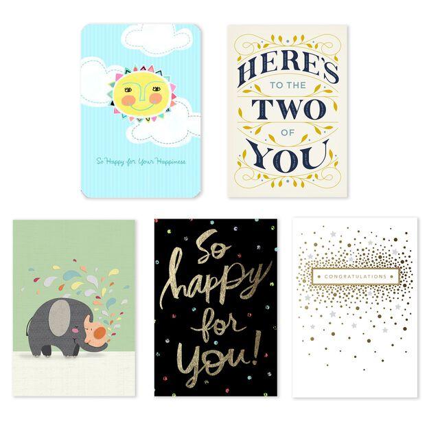 Wedding & Baby Assorted Celebration Cards 25 Pack