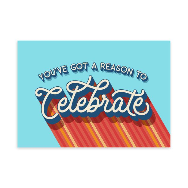 Reason to Celebrate Congratulations Card