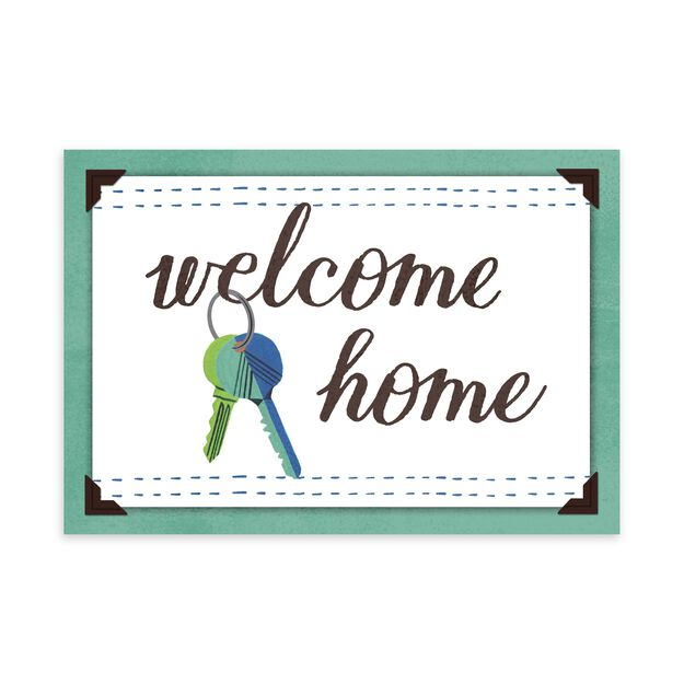 Welcome Home Keys New Home Card