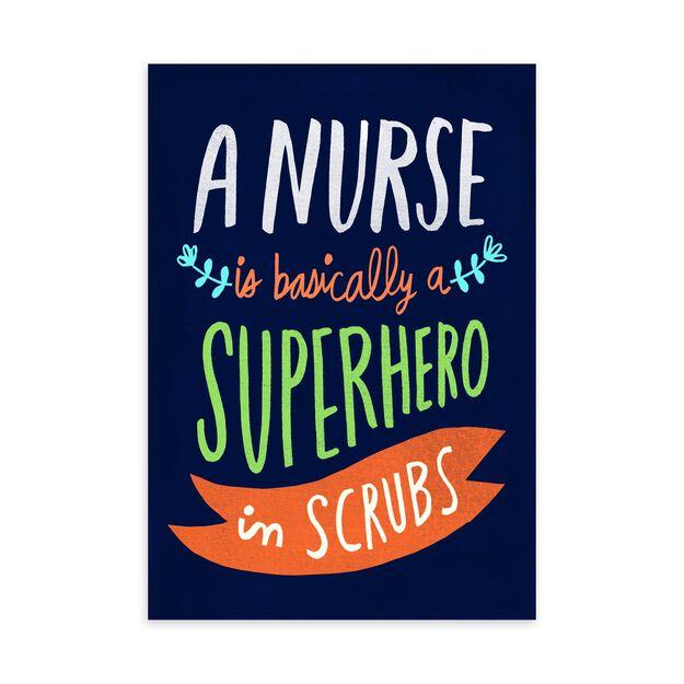 Superhero in Scrubs Nurse Appreciation Card