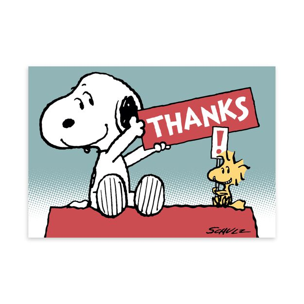 Peanuts® Snoopy & Woodstock Thank You Card