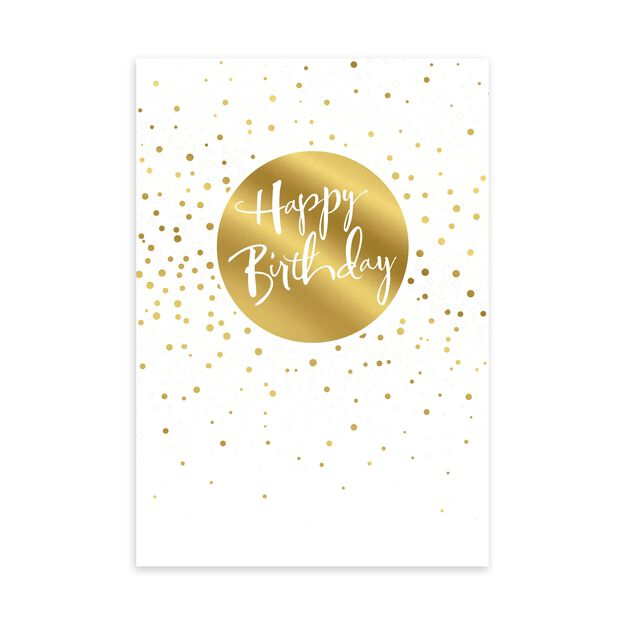 Gold & Silver Celebration Birthday Card