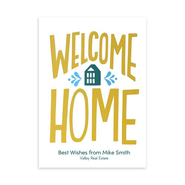 Welcome Home Customizable New Home Card