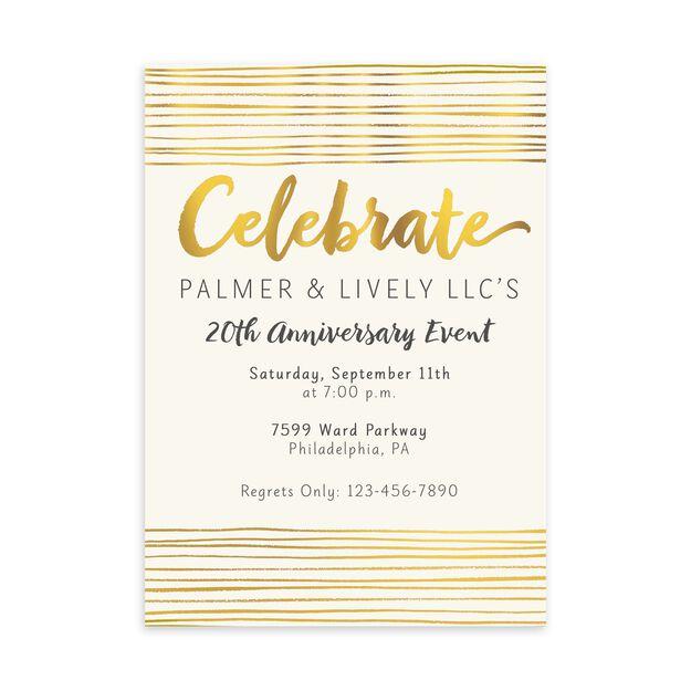 Shining Celebration Customizable Invitation