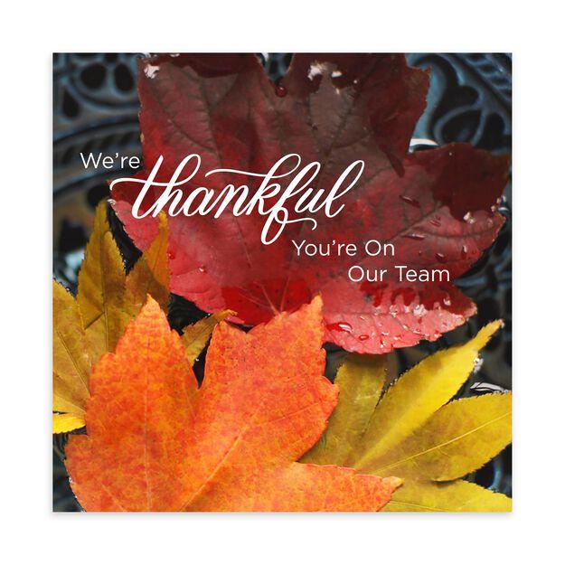 Thankful Team Thanksgiving Card