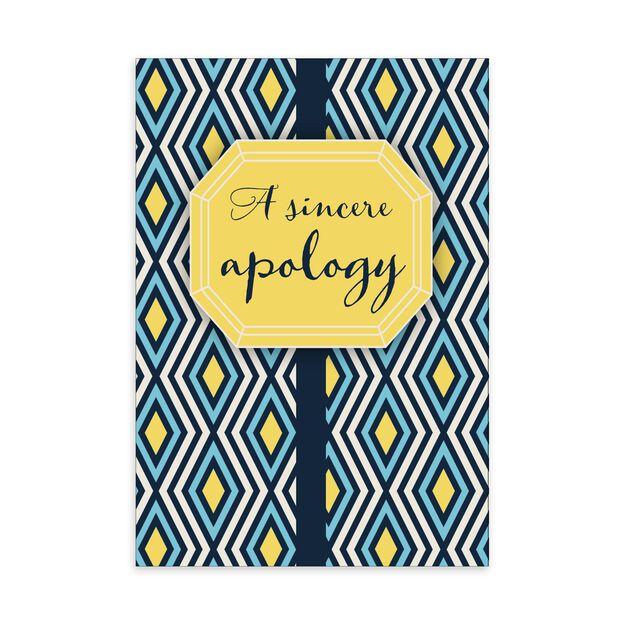 Blue & Yellow Diamonds Apology Card