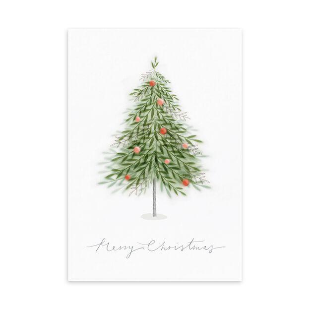 Merry Christmas Tree Christmas Card