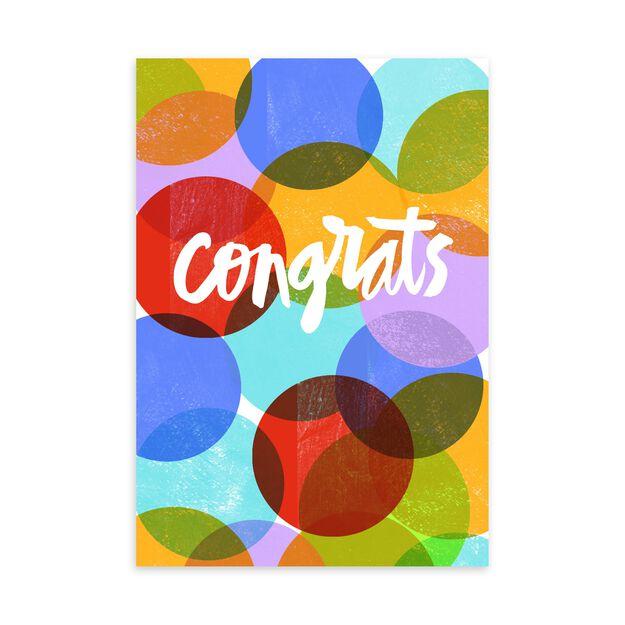 Colorful Dots Congratulations Card