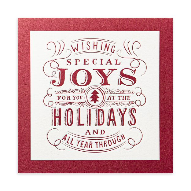 Special Joys, Red & White Premium Holiday Card