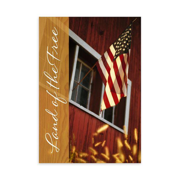 Land of Free Patriotic Card