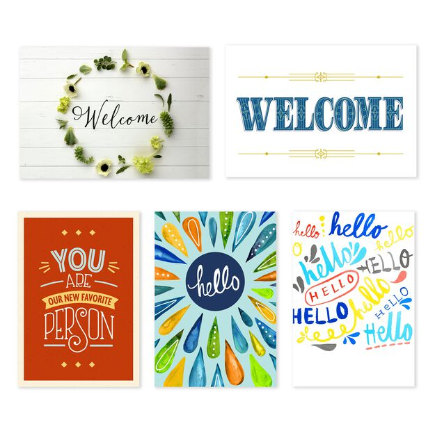 Workplace & Team Assorted Welcome Cards 25 Pack