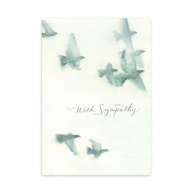 Watercolor Doves Sympathy Card