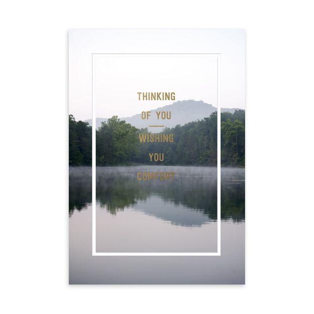 Serene Lake Sympathy Card