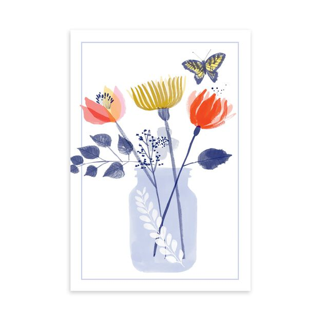 Flowers in Bottle Just Because Card