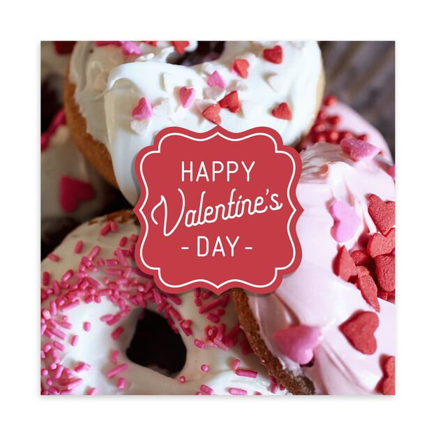 Donuts Valentine's Day Card