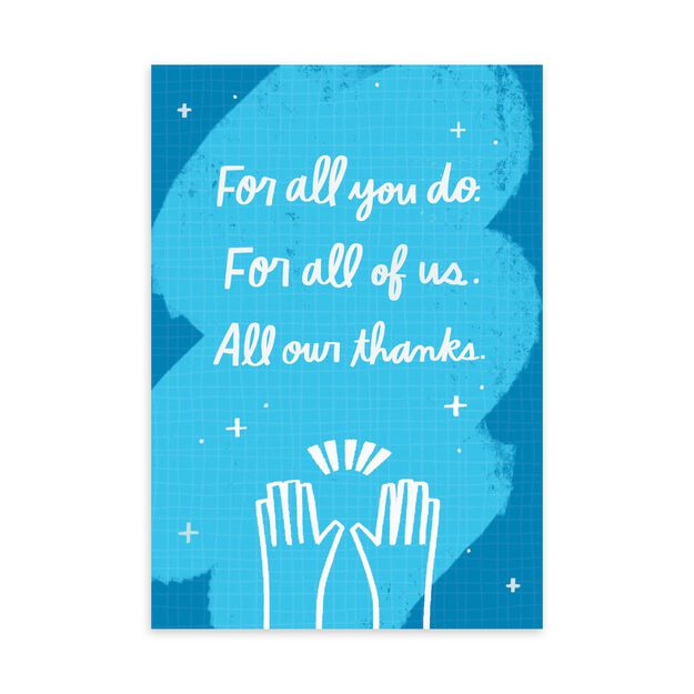 All Our Thanks Employee Appreciation Card