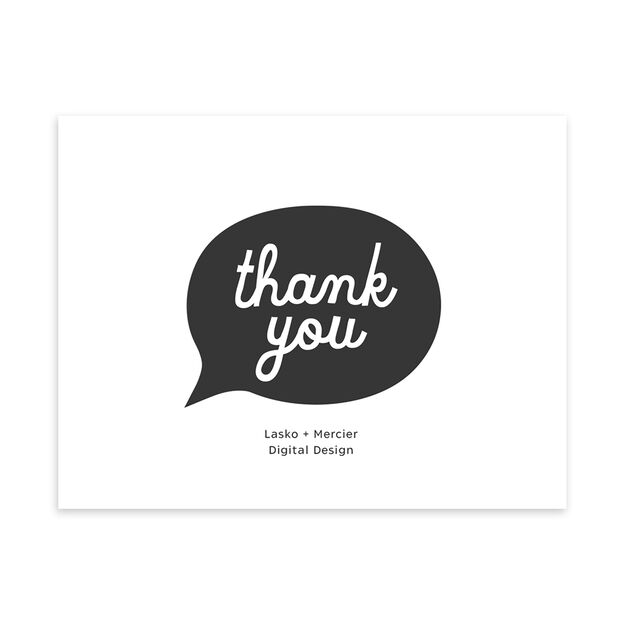 Chat Bubble Customizable Thank You Notecard
